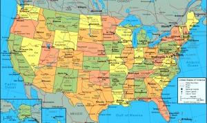 Printable Map of USA Region