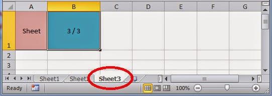 Memberi nomor sheet secara otomatis berdasarkan posisi dan jumlah Worksheet di Excel