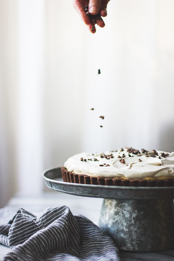 Gluten-Free Rum-Kissed Banana Butterscotch Cream Tart in a Cocoa-Buckwheat Crust  recipe by The Bojon Gourmet