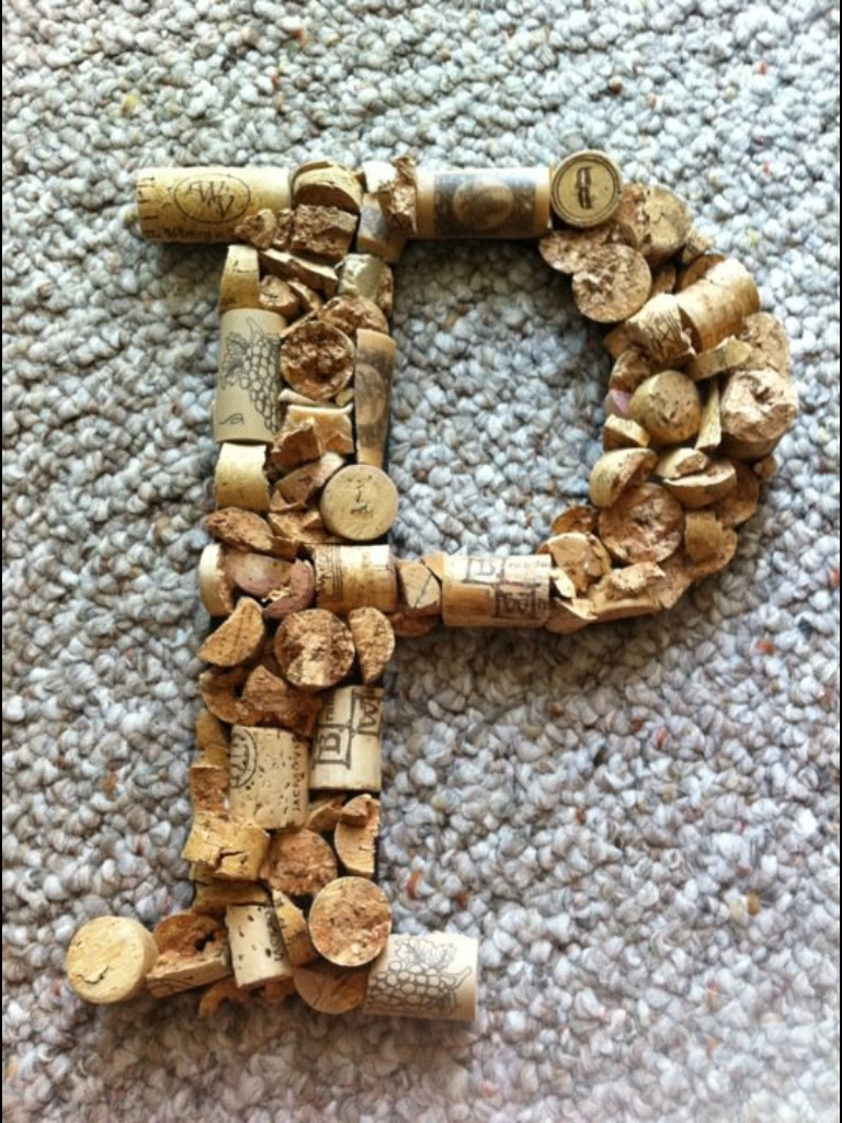 wine cork letters pinning with mrs pennington