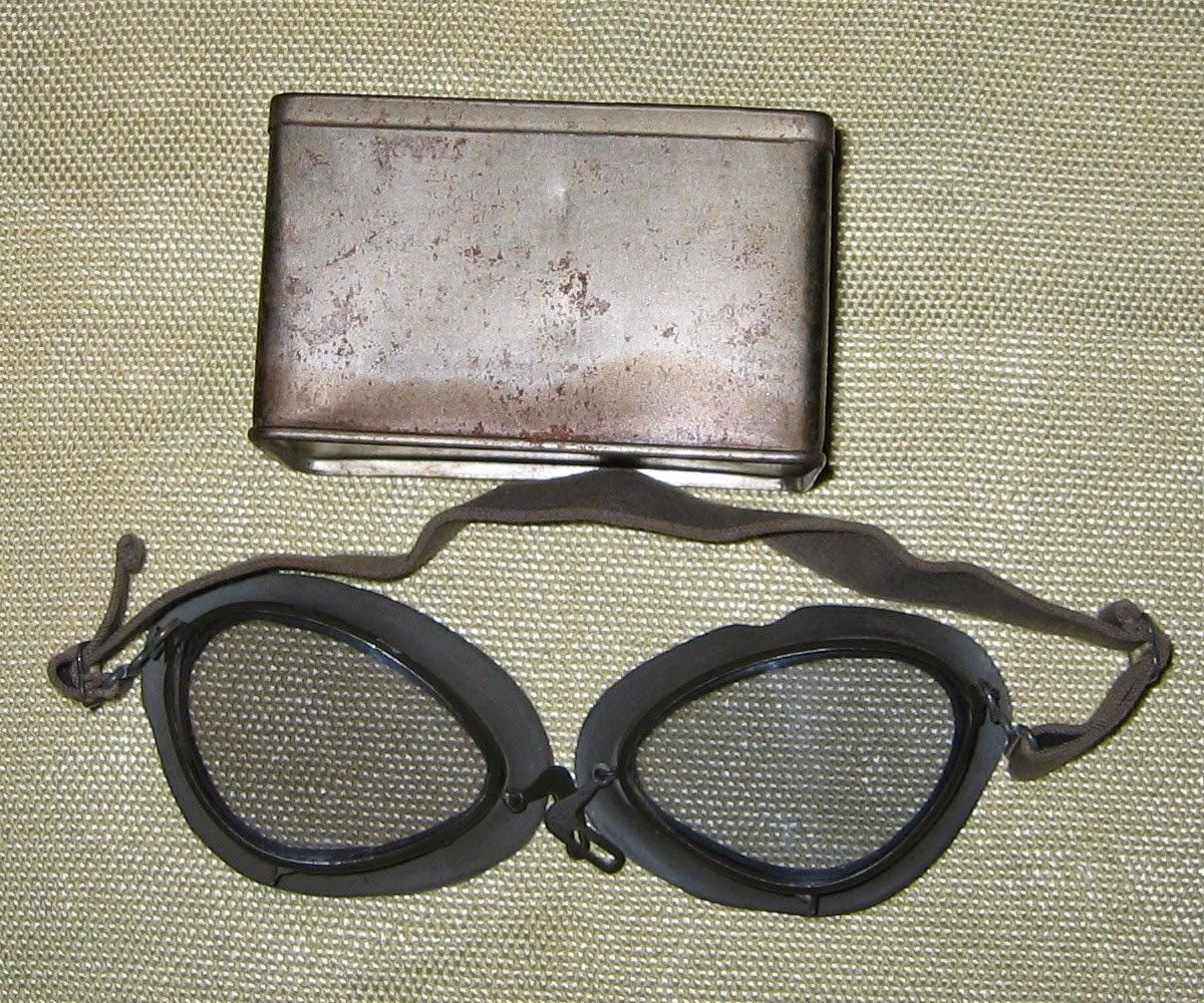 colectii+militare+obiecte+metal+ochelari+pilot+Luftwaffe+vintage