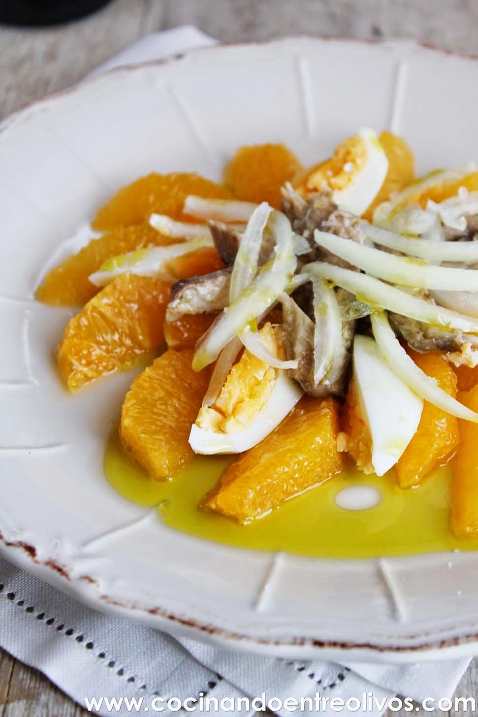 Cocinando entre olivos ensalada de naranja receta paso a for Cocinando entre olivos navidad