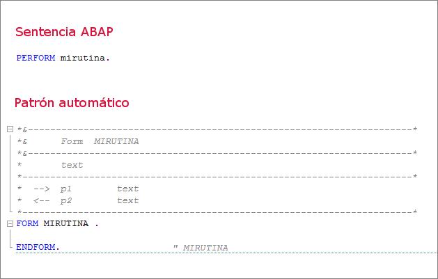 Sentencia y patrón ABAP