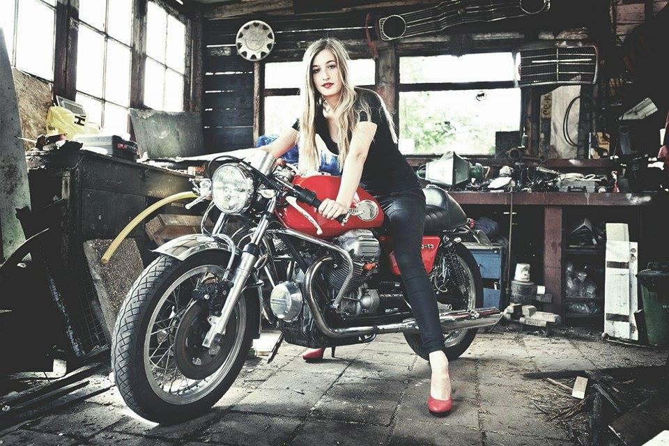 Mercenary garage girl meets bike for Garage custom moto