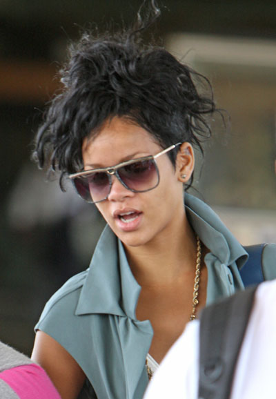 rihanna pixie cut back. Rihanna#39;s mohawk hairstyle