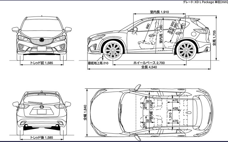 Mazda Cx 5 Cargo Dimensions Automotive Thailand