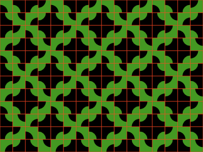 Grid Color Lines Illusion