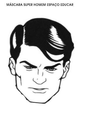Máscara de Super Homem para festa ou carnaval imprimir