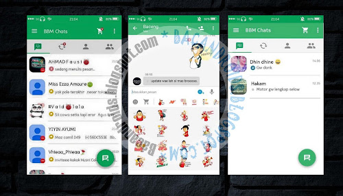 download BBM Mod Material Green Themes Apk Versi 2.9.0.17 New