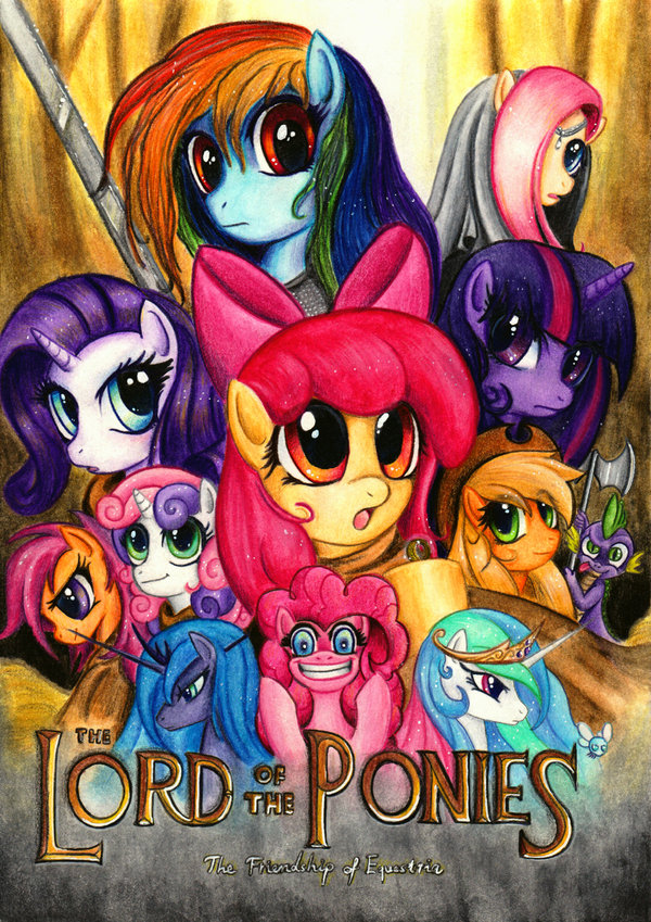 WHY U NO POST MOAR? - Page 3 15611+-+applejack+apple_bloom+celestia+crossover+fluttershy+Nightmare_Moon+parasprite+pinkie_pie+rainbow_dash+rarity+scootaloo+spike+Sweetie_Belle+The_Lord_of_the_Rings+twilight_sparkle