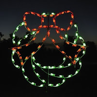 Lighted bow window decorations