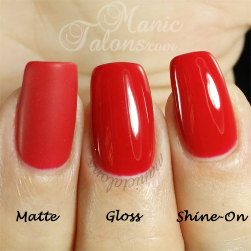 Luxio Top Coats - Matte, Gloss and Shine-On