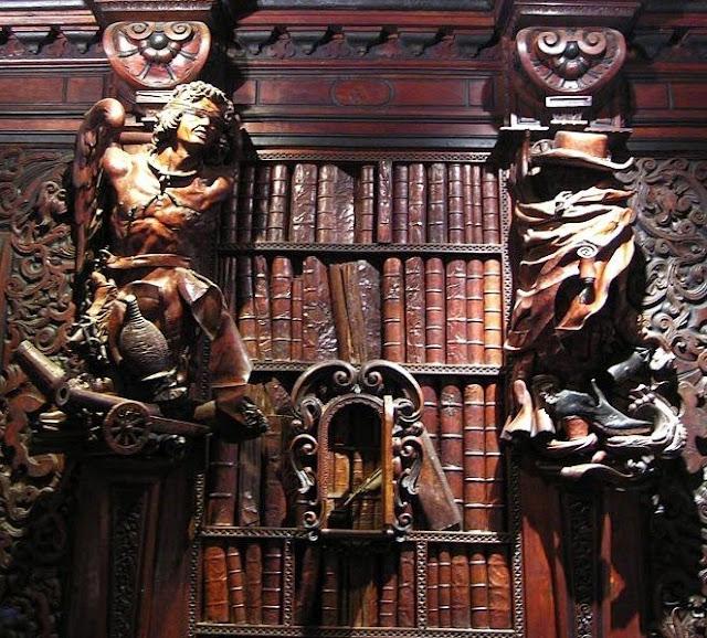 Wood carvings by Francesco Pianta il Giovane in the Scuola di San Rocco in Venice.