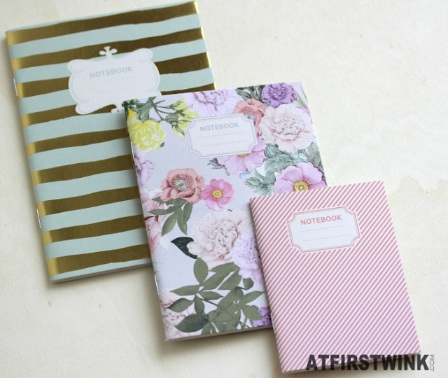 H&M stationery: flower and striped prints