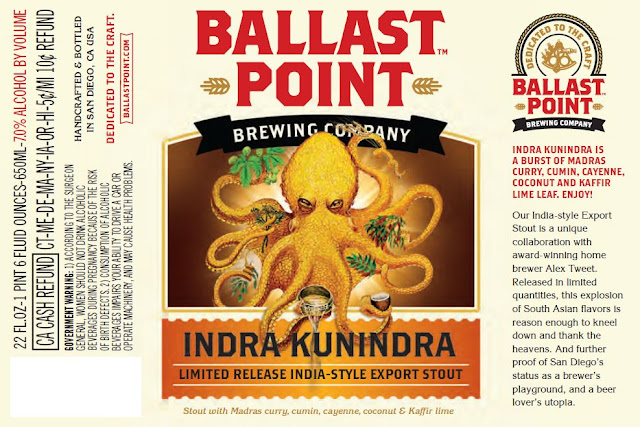 Ballast Point Indra Kunindra Label Design