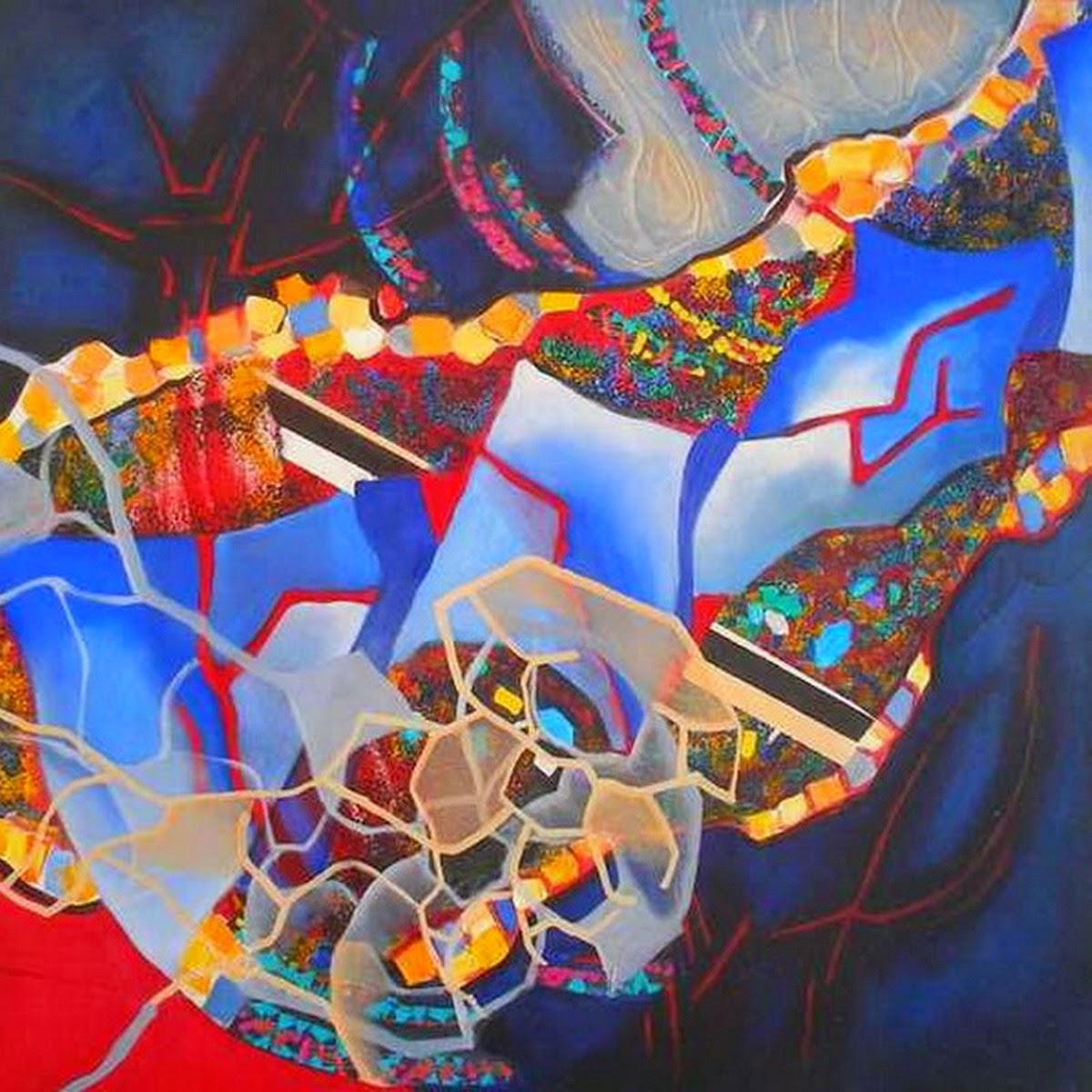 Im genes arte pinturas pinturas abstractas modenas en for Pinturas acrilicas para cuadros