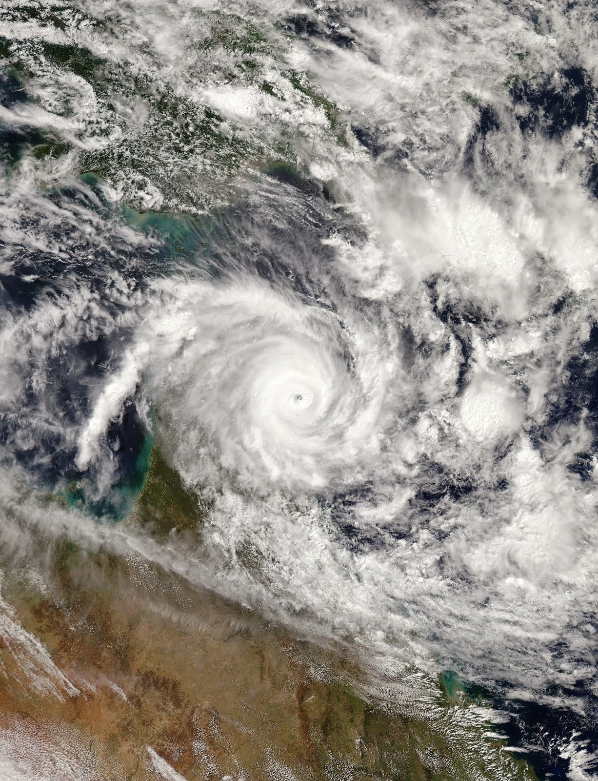 CYCLONE ITA MAKES LANDFALL IN QUEENSLAND, AUSTRALIA