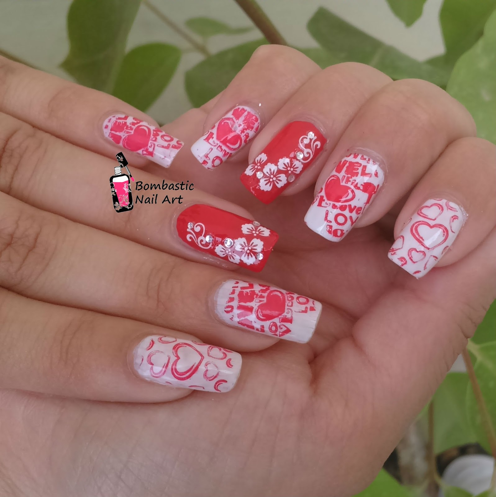 25 Amazing Valentines Day Nail Art Ideas Bombastic Nail Art