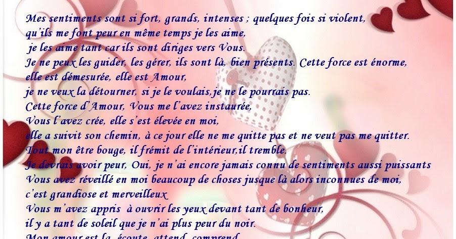 Message d 39 amour et d 39 amiti belle lettre d amour d une femme un homme bonjour l 39 amour - Lettre saint valentin pour son cheri ...