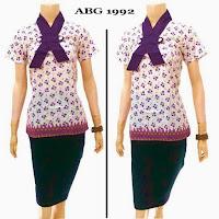 Baju batik remaja modern terbaru