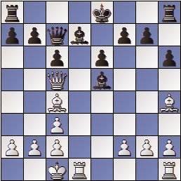 Partida de ajedrez Keres - Schmid, Zúrich 1961, posición después de 16.Dc5