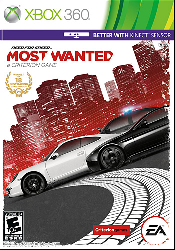 Download Need for Speed Most Wanted   Xbox 360 xbox 360 corrida ano 2012