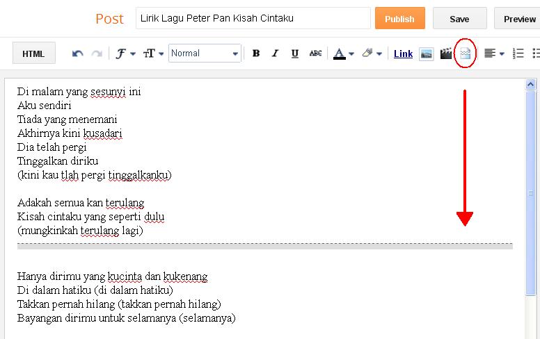 Cara Membuat Read More Manual di Blogger