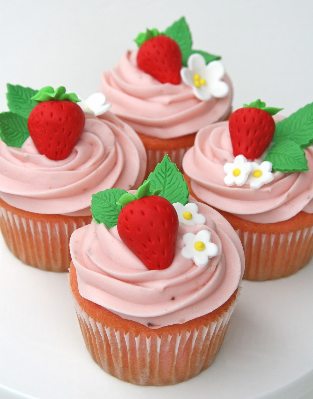 Strawberry Cupcakes With Real Strawberries