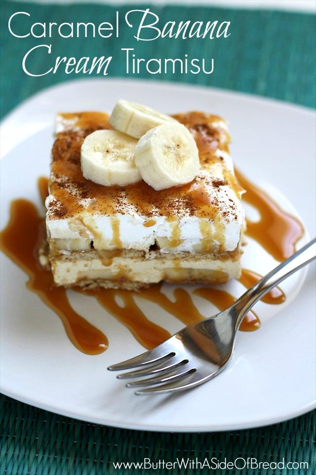 CARAMEL BANANA CREAM TIRAMISU: Butter with a Side of Bread