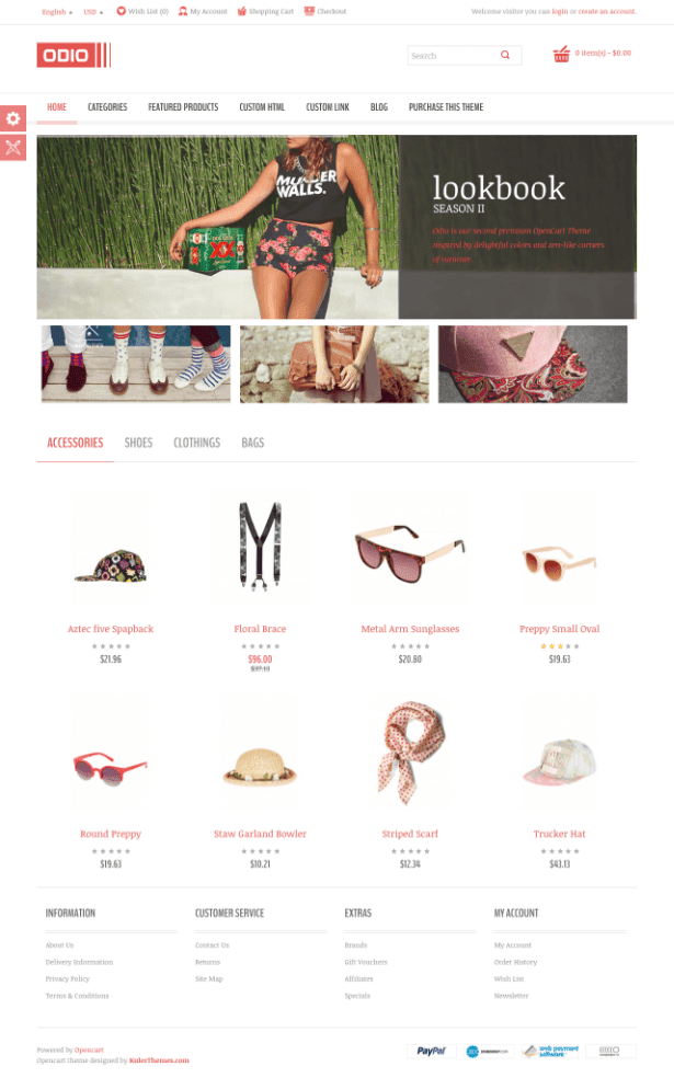 Odio – E-commerce website template