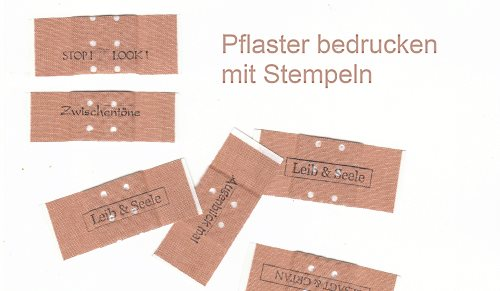 like stamps so much pflaster selber bedrucken diy. Black Bedroom Furniture Sets. Home Design Ideas