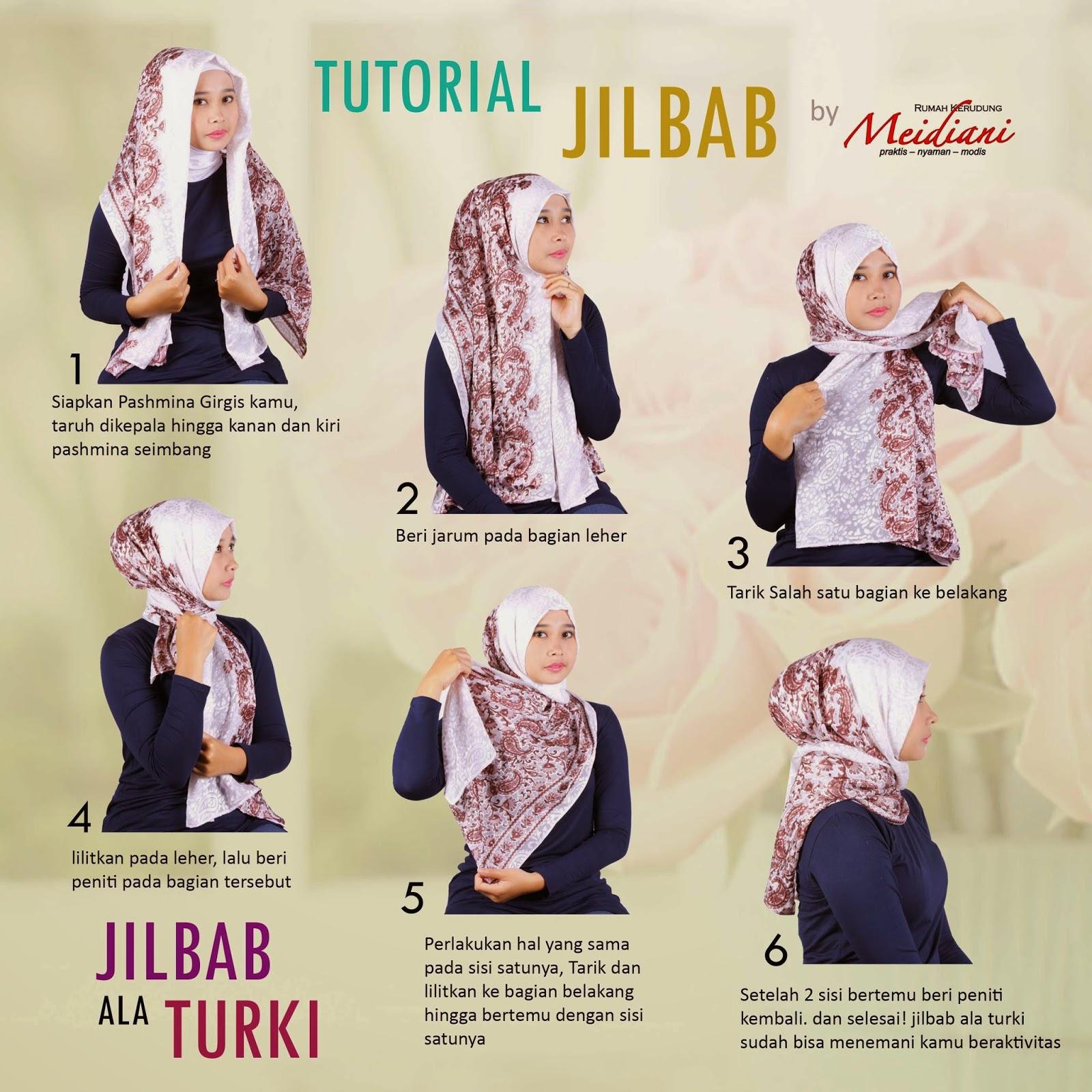 Tutorial Memakai Jilbab Ala Turki