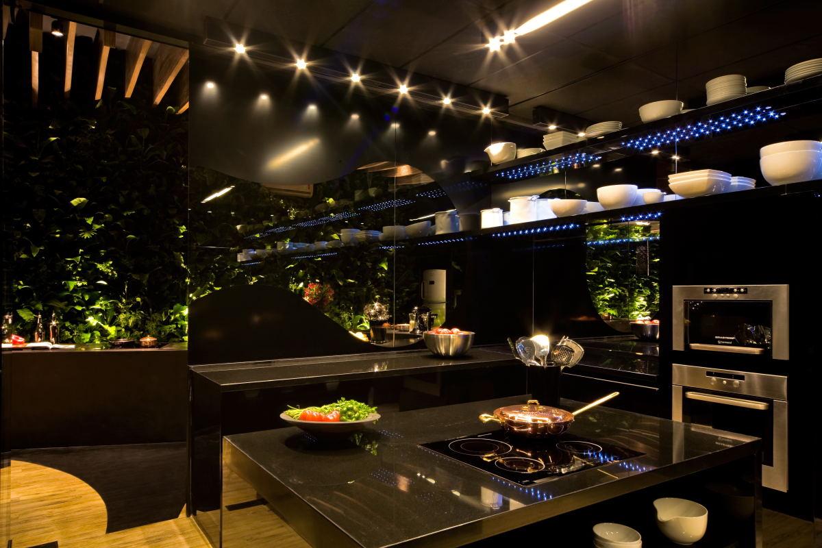 Light+Architecture: Chef's Kitchen and Lounge for Boa Mesa Exhibit