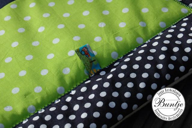 Krabbeldecke Decke Baby Name Geschenk Geburt Taufe Baumwolle Fleece Kuscheldecke handmade nähen Buntje Schnullertäschchen Wickeltasche Schnuffeltuch
