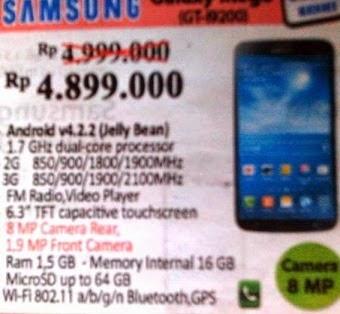 harga Samsung Galaxy Mega