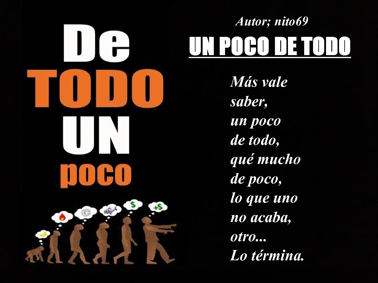 UN POCO DE TODO  ( Reposición ).