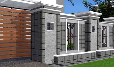 Desain Pagar Rumah Mewah Minimalis 04