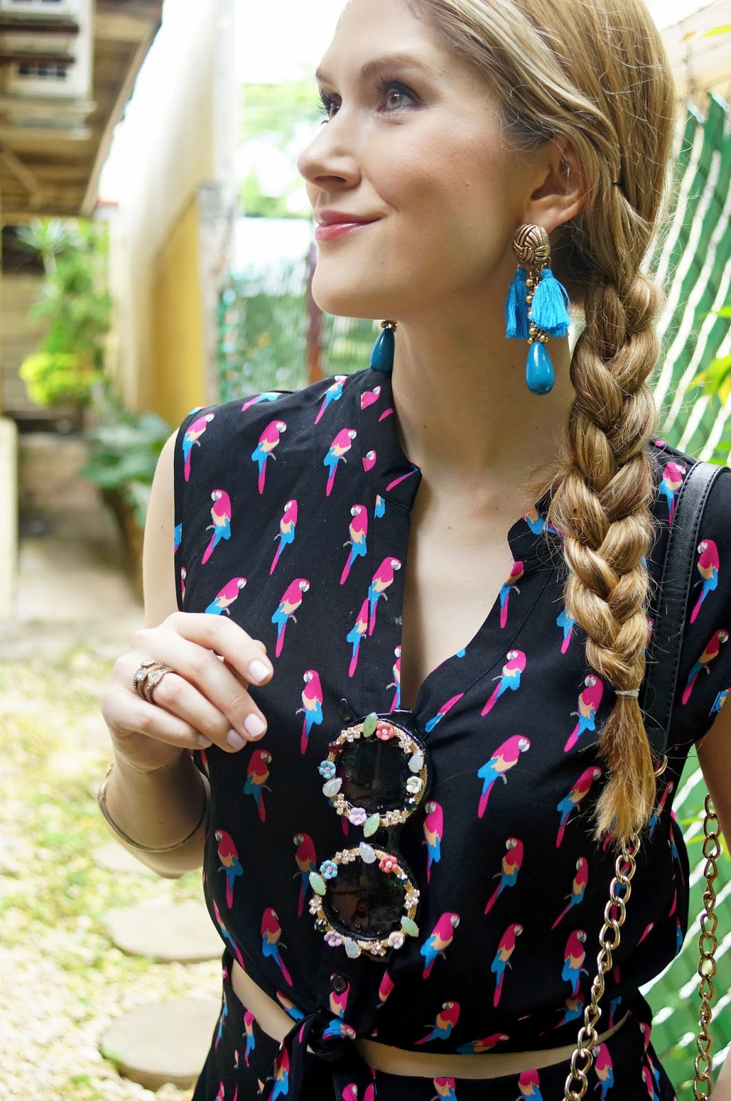 Simple and cute braid hairstyle for Summer!