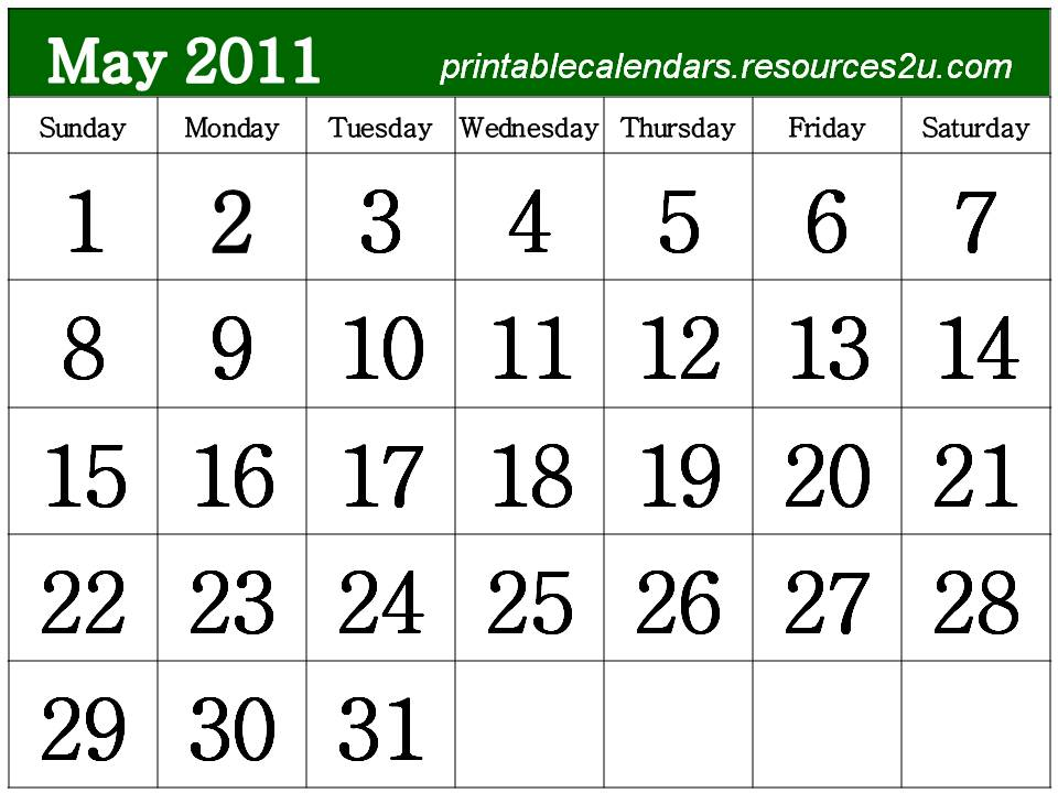 may 2011 calendar printable free. 2011 calendar printable free.