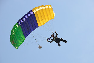 Parachutist at Skydive Chicago in Dayton, Illinois