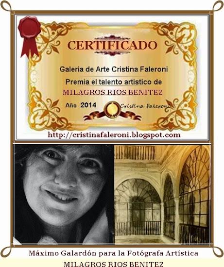 Milagros Rios Benbitez - Premio