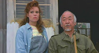 Mr. Miyagi and pottery girl share a moment.