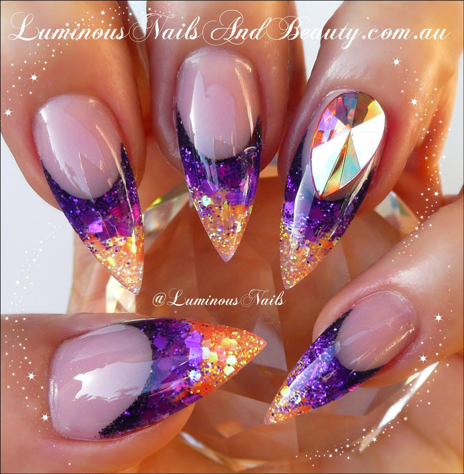 Nail Bling On Pinterest Nails Art And Purple