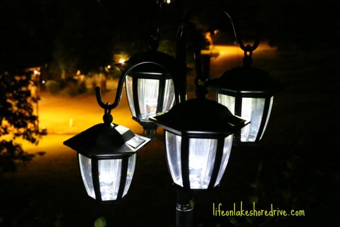 diy solar light lamp post with flower planter life on lakeshore drive. Black Bedroom Furniture Sets. Home Design Ideas