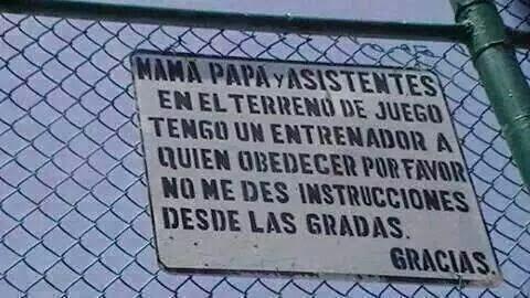 MAMA, PAPA...TENEMOS UN ENTRENADOR...
