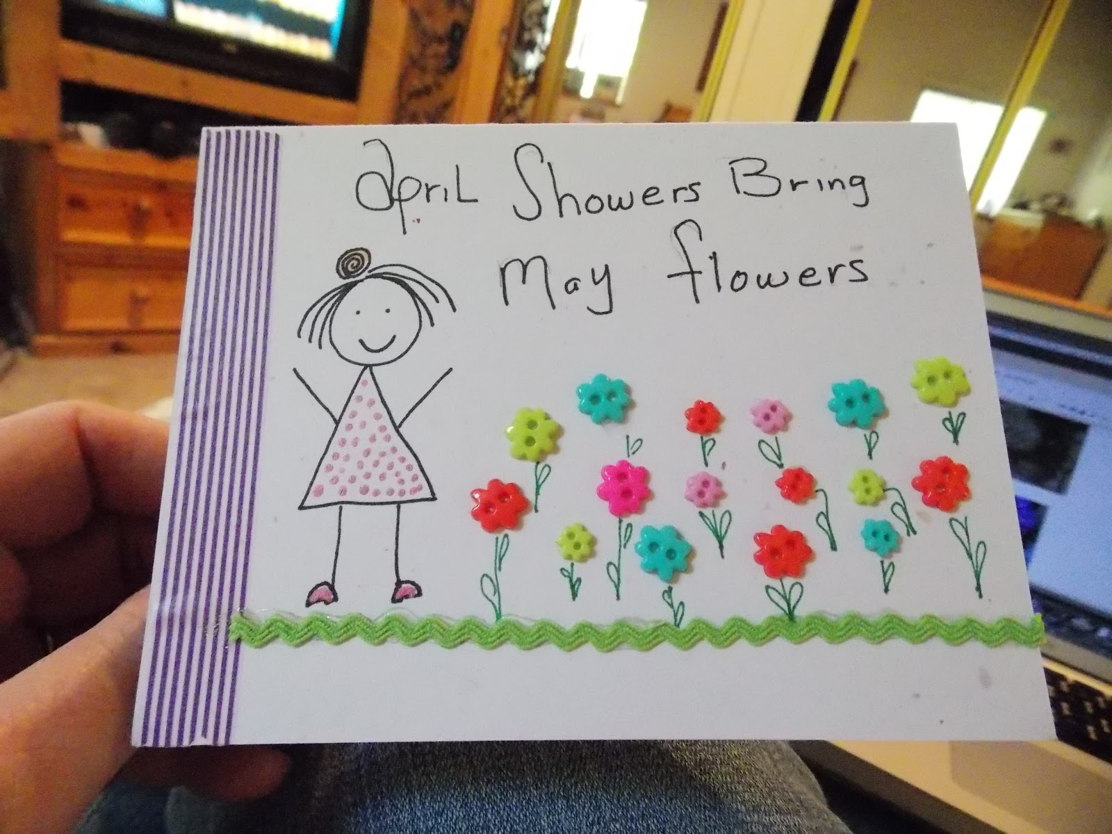 Lindsay Ostrom: april showers... bring may flowers... and mail ...