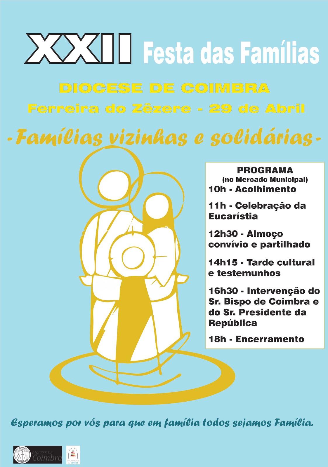 Festa diocesana das famílias - 29 de abril em Ferreira do Zêzere