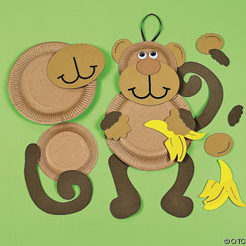We love being moms letter m monkey for Monkey crafts for preschool