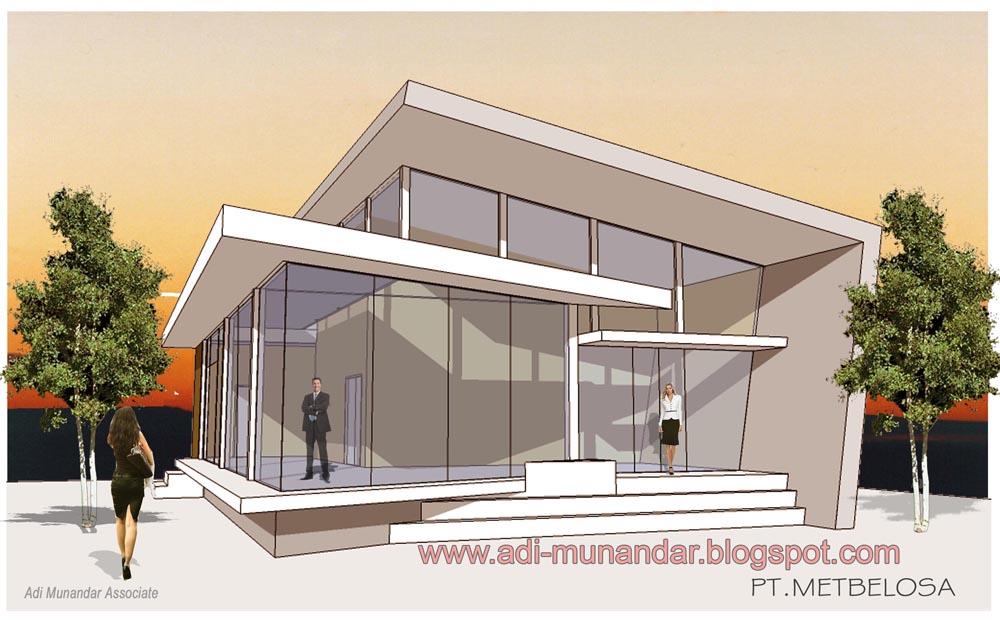 Desain arsitektur kantor konsep moderen dinamis di jakarta for Arsitek di jakarta