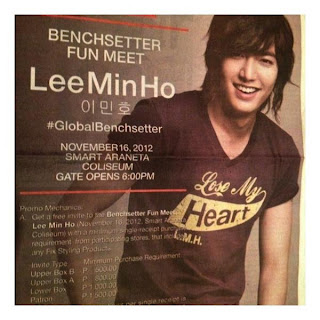 Lee Min Ho Bench Fun Meet